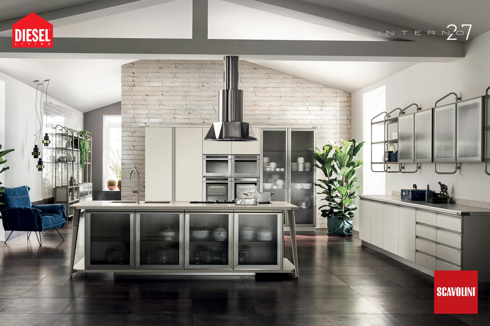 cucine in stile industriale -